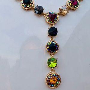 New Natasha Multi Colored Statement Necklace